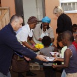 Kenton Eco Estate Manager helping PGP feed children at the soup kitchen